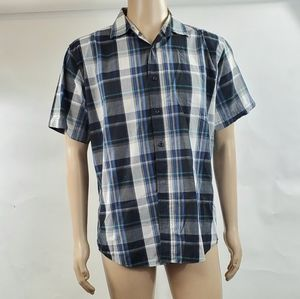 Beverly Hills Mens Button Down Size Large Checkers